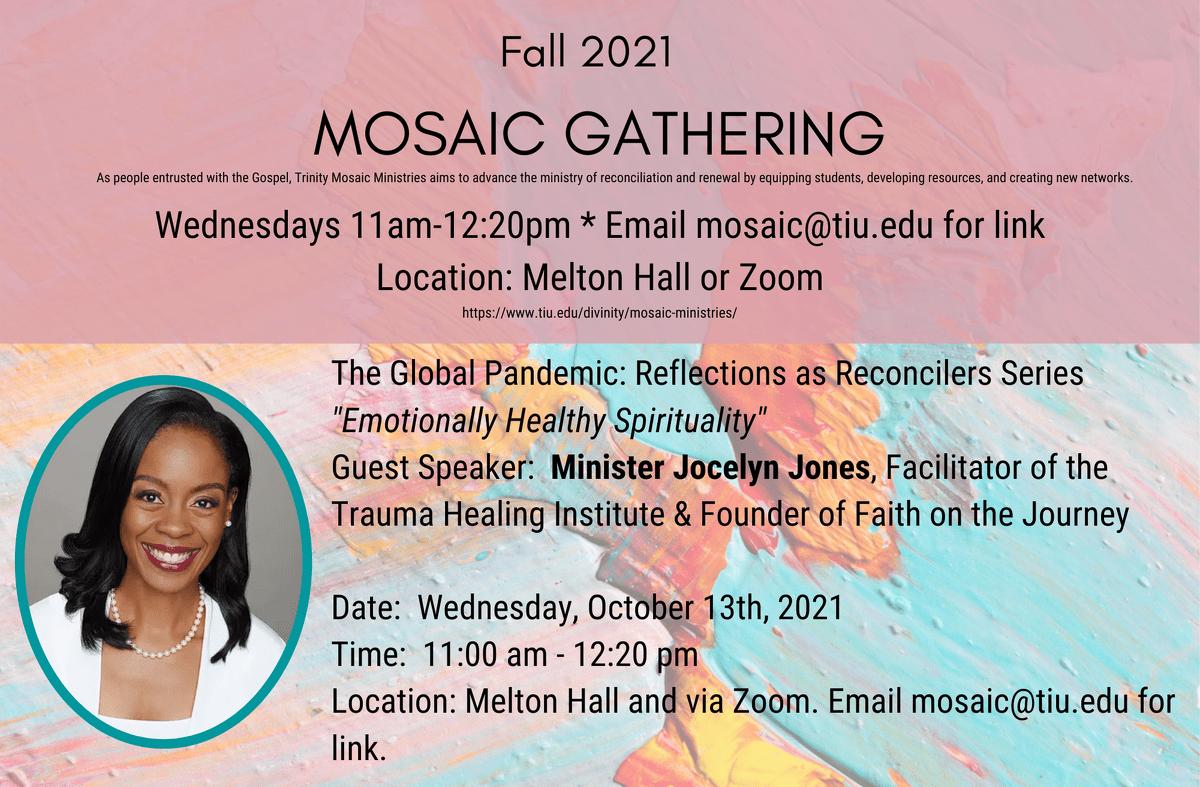 Mosaic Gathering Speakers 10.13 Jones