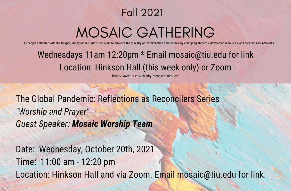 Mosaic Gathering Speaker 10.20 WP 1
