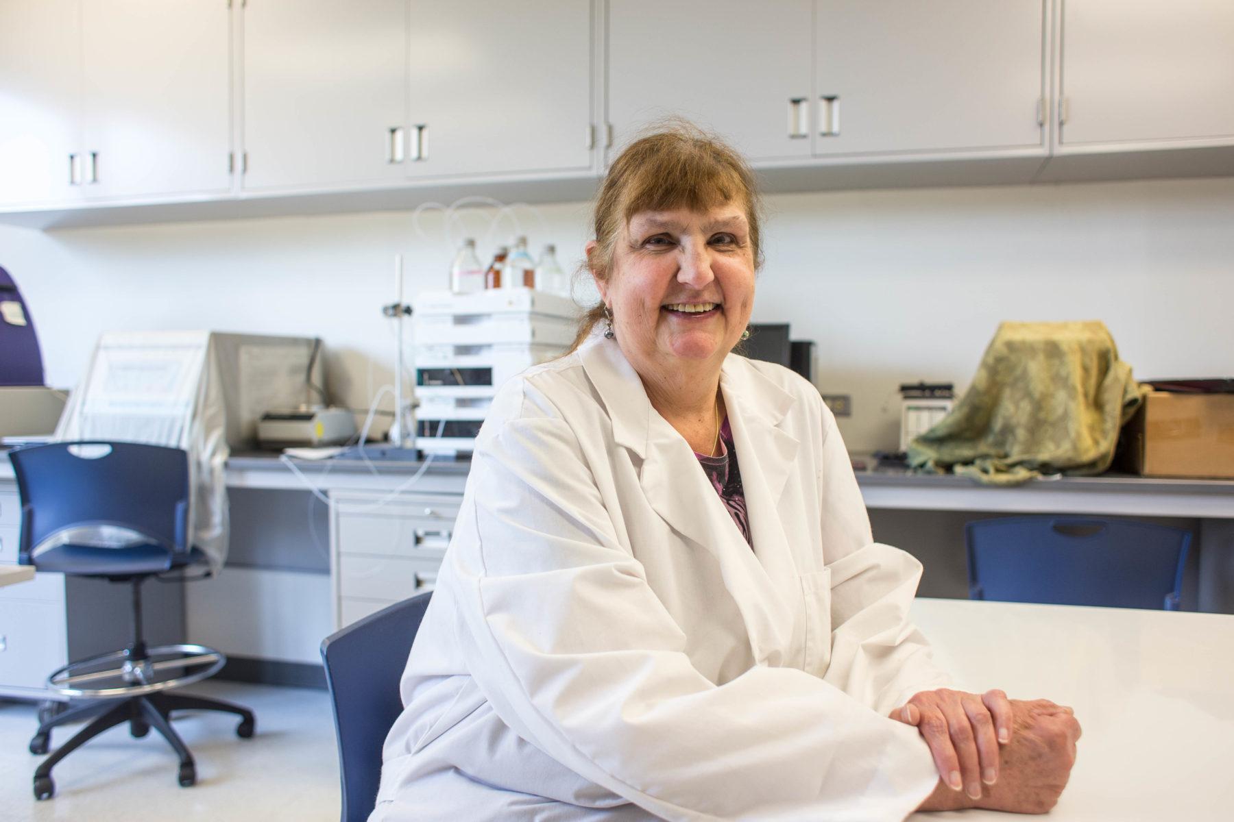 Dr. Karlesky in the lab