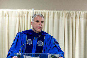 President Perrin gives commencement speech