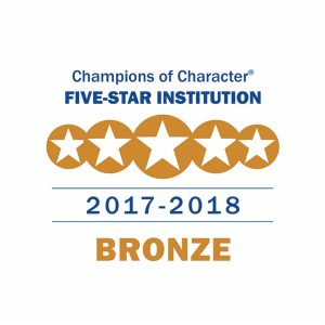 Champions of Character Five-star institution 2017-2018 bronze